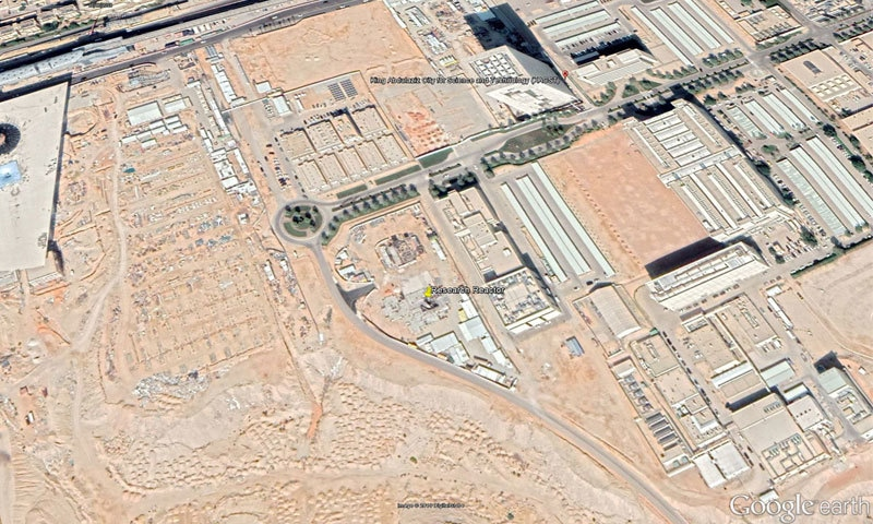 جوہری پلانٹ کی تعمیر آخری مراحل میں ہے—فوٹو: گوگل ارتھ