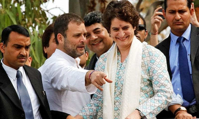 کانگریس نے انتخابات سے قبل پریانکا گاندھی کو بھی سیاسی ذمہ داریاں سونپی گئی ہیں—فوٹو: رائٹرز