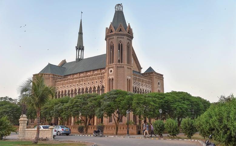 A VIEW of Karachi's historic Frere Hall.—Fahim Siddiqi/White Star]