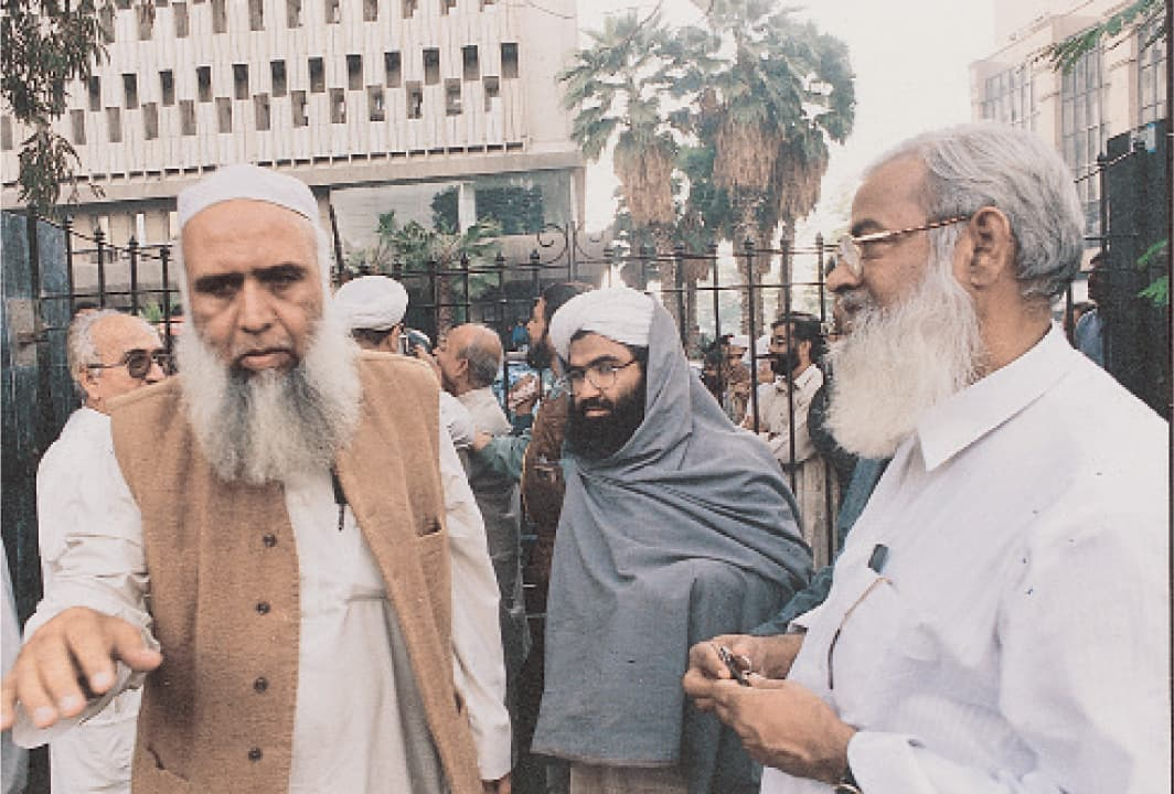 Jaish-e-Mohammad chief Masood Azhar (centre) | White Star