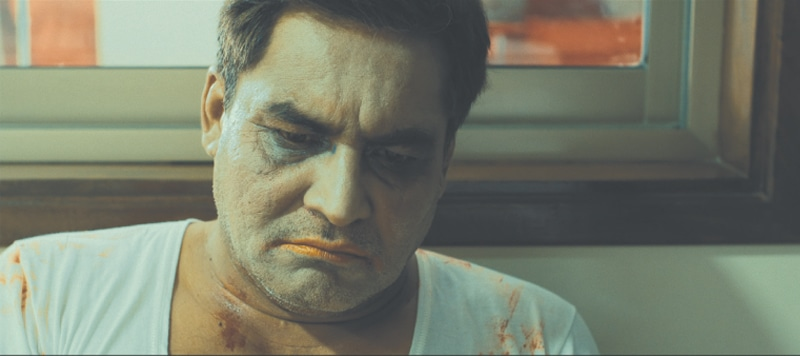 The climactic scene in the film sees Rashid exact revenge while dolled up in a little girl's make-up