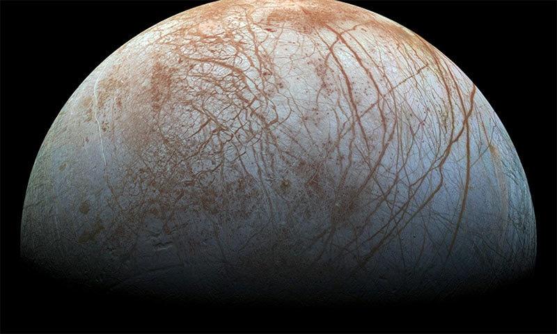 مشتری کا چاند یوروپا — فوٹو بشکریہ ناسا