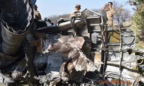 پاکستان نے بھارتی جارحیت ناکام بناتے ہوئے اس کے 2 طیارے مار گرائے تھے — فائل فوٹو: آئی ایس پی آر