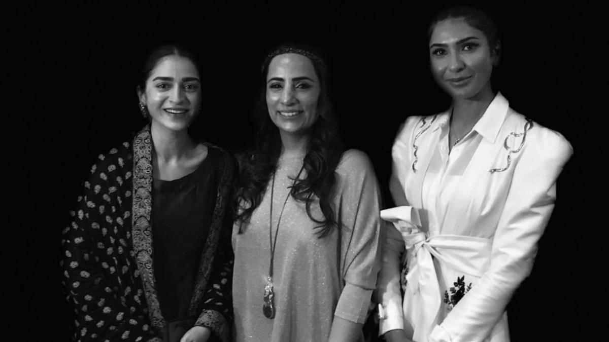 Hajra Yamin, Shazia Ali Khan and Kiran Malik at the world premiere for Pinky Memsaab