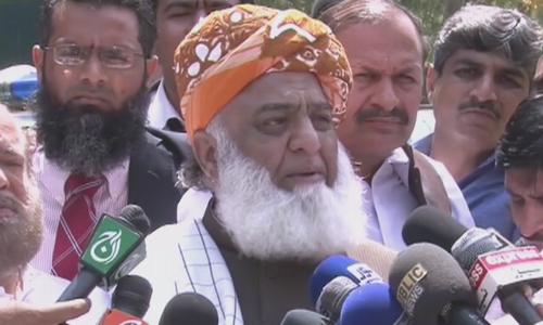 The JUI-F chief calls on former prime minister Nawaz Sharif; says will meet Zardari in days to come.— DawnNewsTV