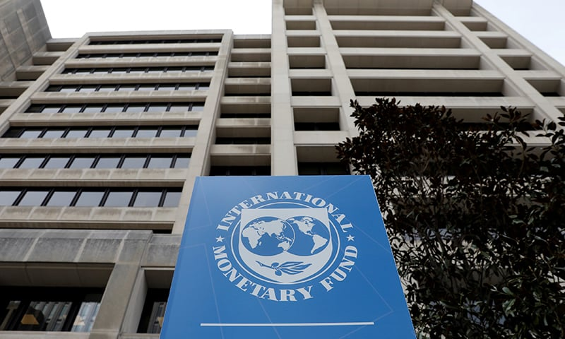 File photo shows IMF headquarters building ahead of the IMF/World Bank spring meetings. — Reuters
