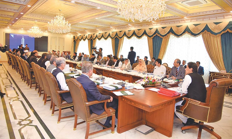 ISLAMABAD: Prime Minister Imran Khan chairs a meeting of the federal cabinet on Tuesday. At the meeting, the cabinet decided to establish a new department called the Naya Pakistan Housing Authority and build 130,000 housing units in the federal capital and Balochistan.