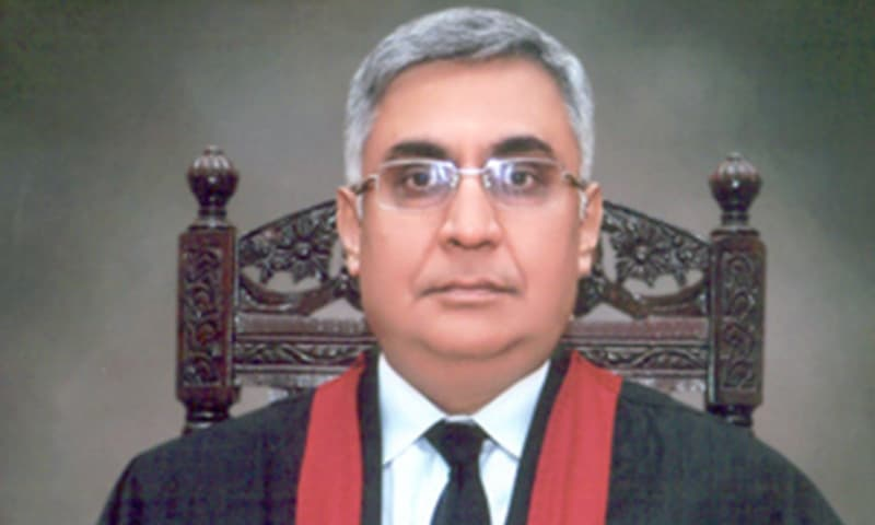 ustice Mohammad Farrukh Ifran Khan of the Lahore High Court on Tuesday tendered his resignation apparently to avoid possible removal by the Supreme Judicial Council (SJC) in a reference. — Photo courtesy LHC website/File