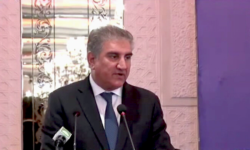 Foreign Minister Shah Mahmood Qureshi on Wednesday said that the only way for Pakistan and India to move forward was through dialogue. — DawnNewsTV