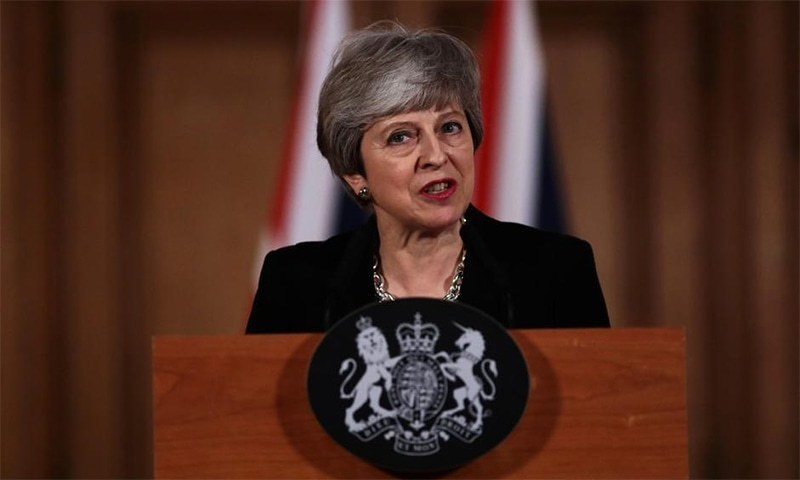 May has embarked on a last-ditch battle to postpone Brexit from April 12 to June 30. — AFP/File