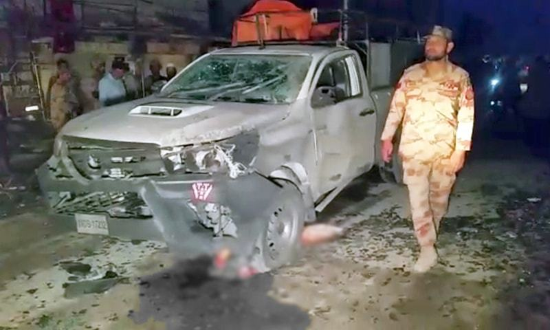 Two killed, 10 injured in Chaman blast targeting FC vehicle: police
