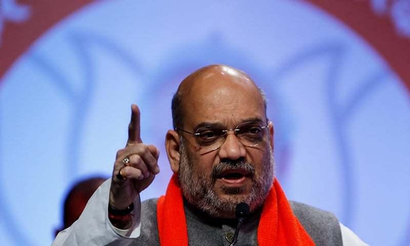 امیت شاہ نے بنگال میں ریلی سے خطاب کرتے ہوئے بیان دیا—فوٹو:رائٹرز