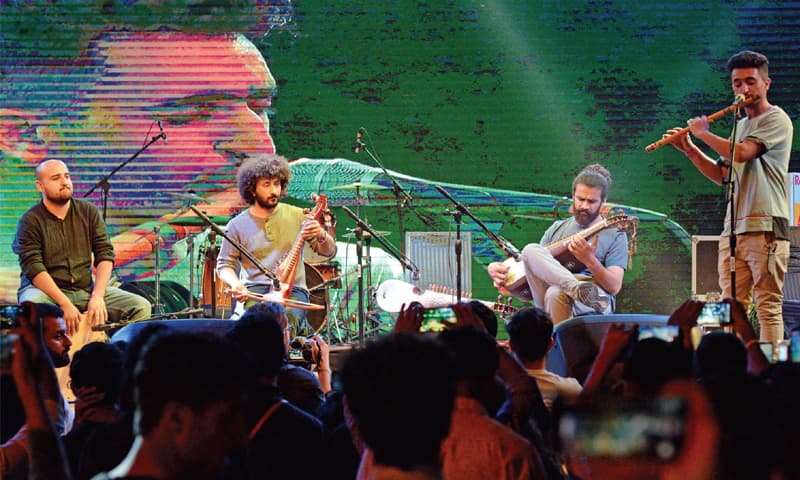 Jil Band and Roots perform on the first day of Face Music Mela at PNCA on Friday. — White Star