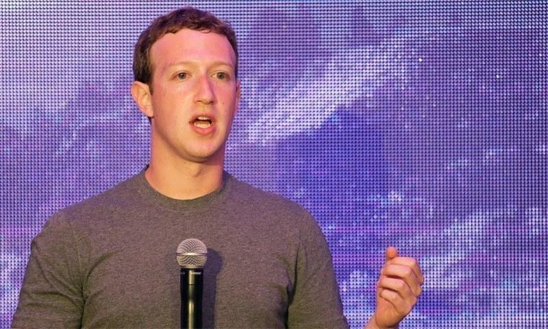 فیس بک کے سی ای او مارک زکربرگ کی ماہانہ تنخواہ ایک ڈالر ہے—فوٹو: اے پی