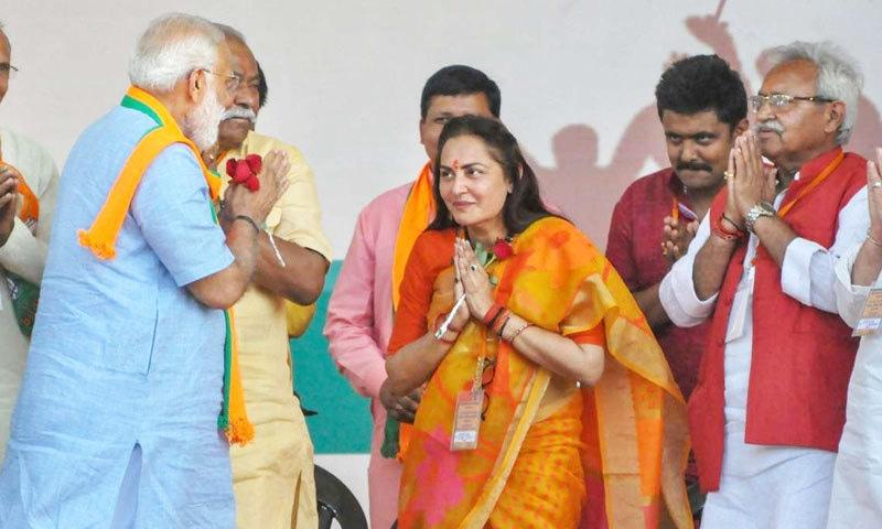 جیا پرادا حال ہی میں بی جے پی میں شامل ہوئی ہیں—فوٹو: ڈی این اے انڈیا