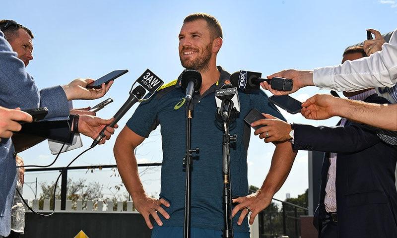 آسٹریلیا نے ایرون فنچ کو ورلڈ کپ کے لیے کپتان کے منصب پر برقرار رکھا ہے— فوٹو: اے ایف پی