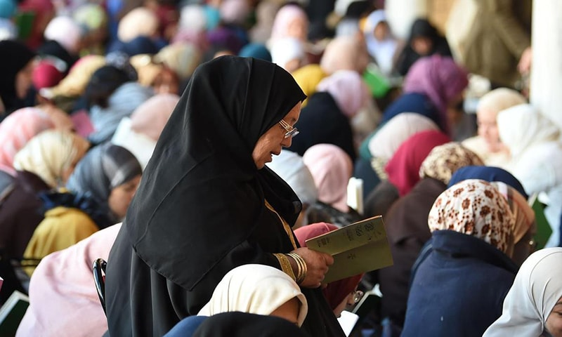 Women are not allowed inside most mosques in India although a few have separate entrances for women to go into segregated areas. ─ AFP/File