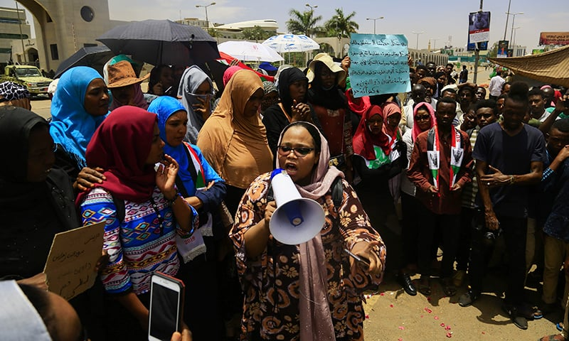 Fear of army action as Sudan protesters toughen stand