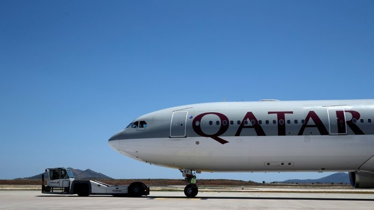 File photo of a Qatar Airways aircraft on a runway of the Eleftherios Venizelos International Airport in Athens. — Reuters