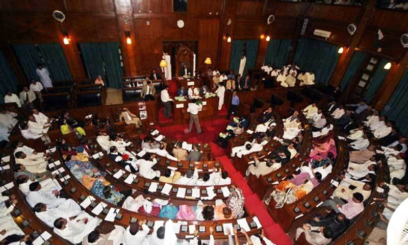 Opposition stages walkout after Speaker Durrani did not allow a PTI lawmaker to speak on a point of order. — AFP/File