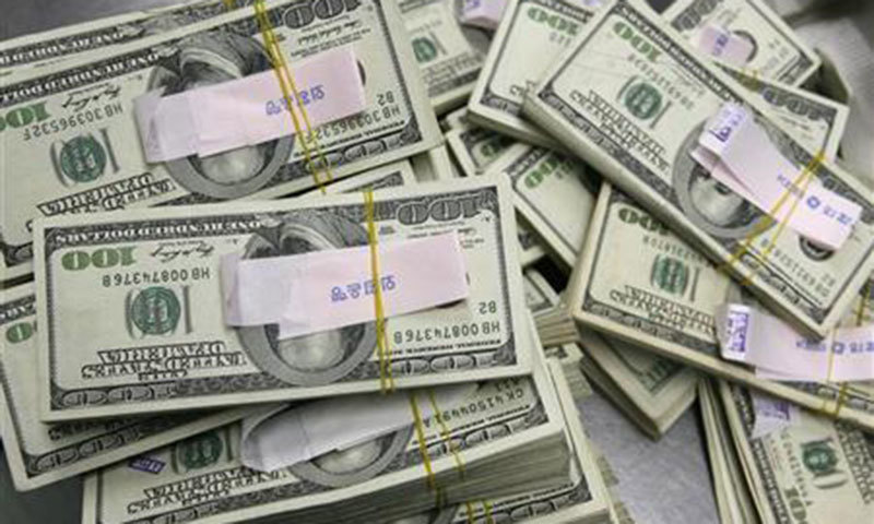 Decrease in dollar stick amid external debt servicing, repayment of $1bn principal against PSB, says SBP. ─ File photo