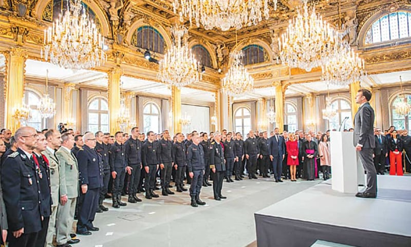 France salutes 'exemplary' firefighters for saving Notre-Dame