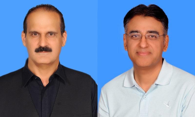 اسد عمر وزیرِ خزانہ اور عامر محمود کیانی وزیرِ صحت برقرار ہیں — فوٹو: قومی اسمبلی ویب سائٹ
