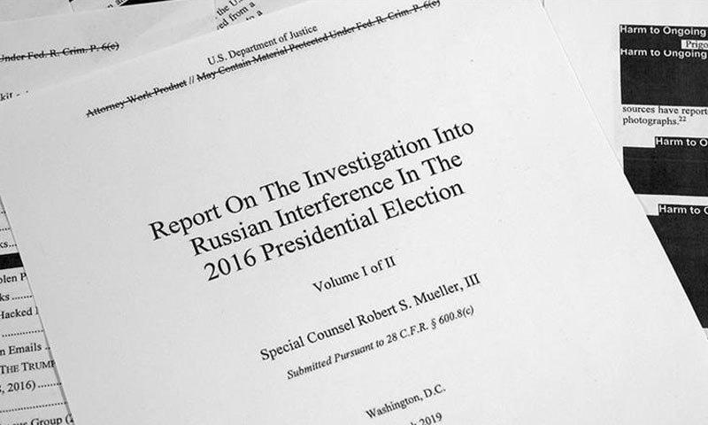 رپورٹ 400 صفحات پر مشتمل ہے—فوٹو: اے پی