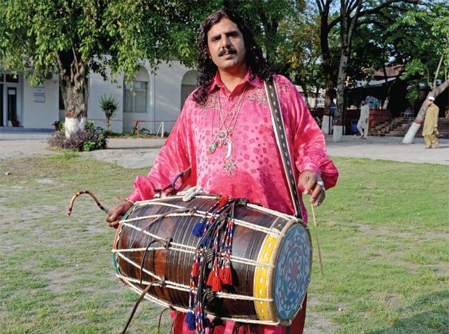 Shaukat Ali, 35, dhol beater