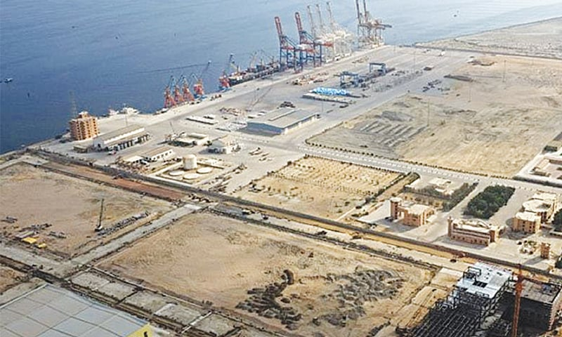 An aerial view of Gwadar port. A cornerstone of the Chinese investment project under China-Pakistan Economic Corridor as part of its Belt and Road Initiative.
