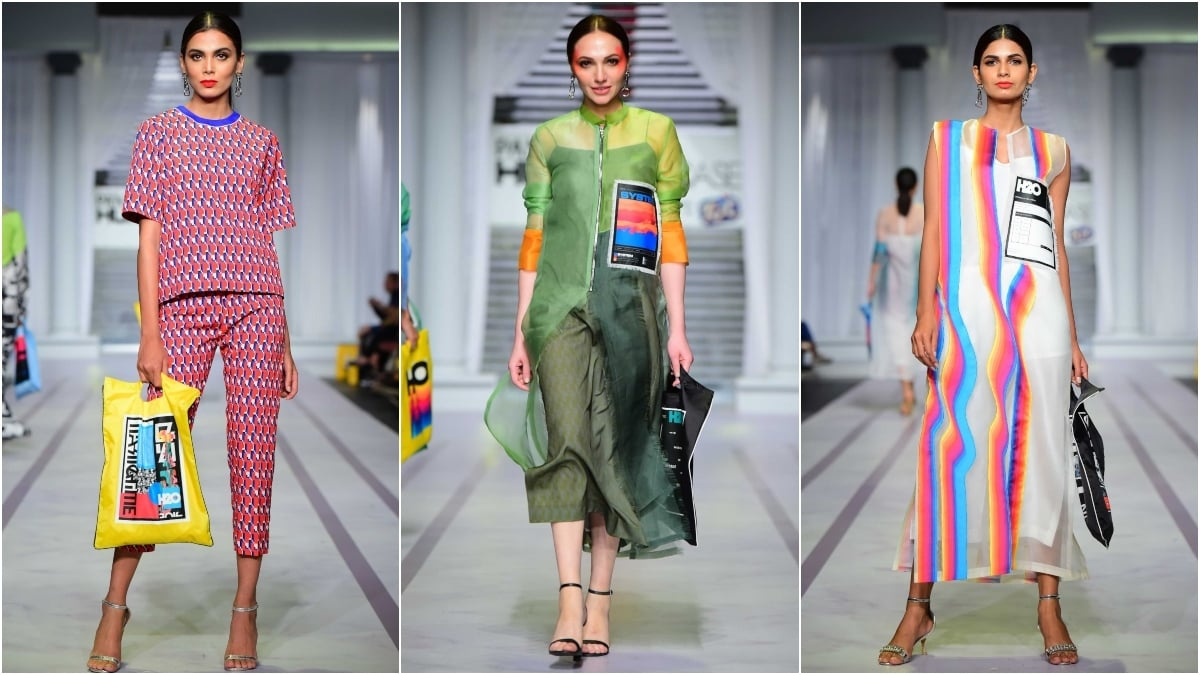 With a focus on colour and print, Rehar sent down lots of statement wear