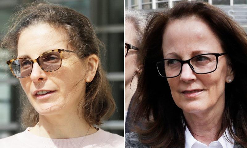 کلیر برونفمین اور کیتھی رسل نے خواتین کو اسمگل کرنے کا اعتراف کیا—فائل فوٹو: سی این این