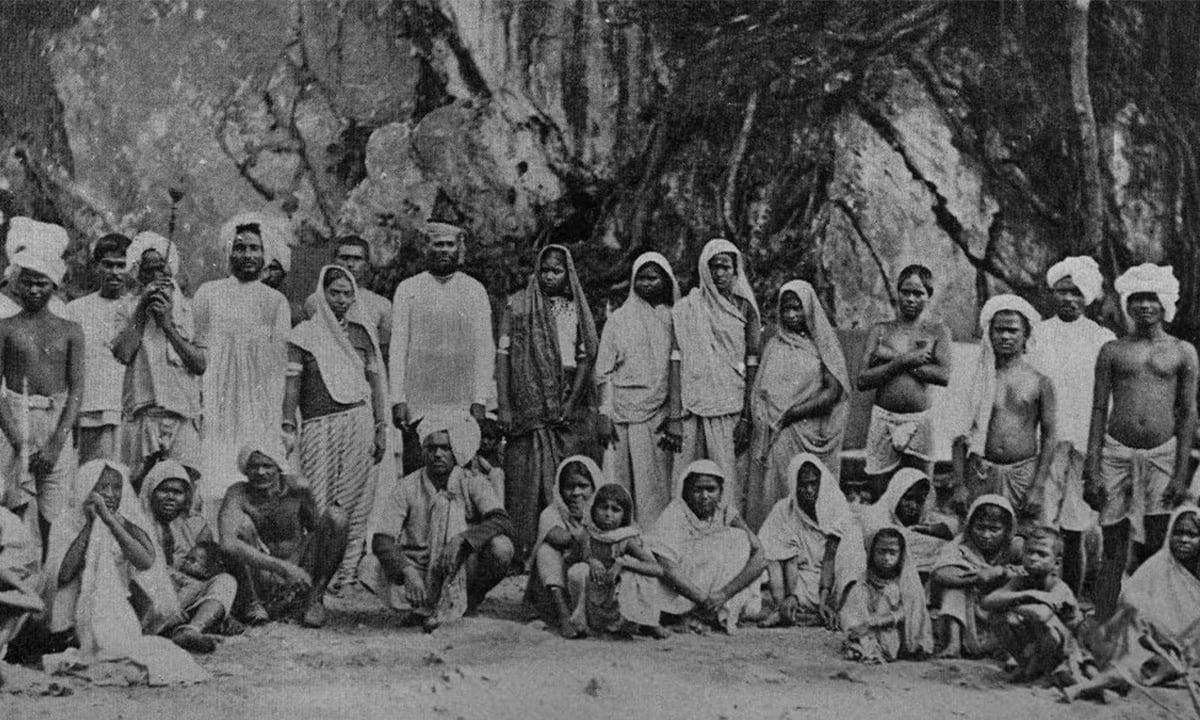 Newly arrived indentured labourers from India in Trinidad, 1867 | Credit: Wikimedia Commons