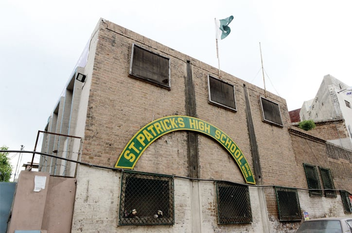 An outside view of the school on Murree Road.