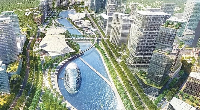 An artist's visualisation of the Bandar Malaysia project.