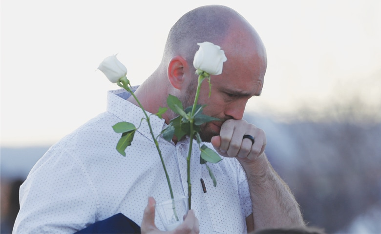 Littleton (Colorado, US): Will Beck, a survivor of the attack.—AP