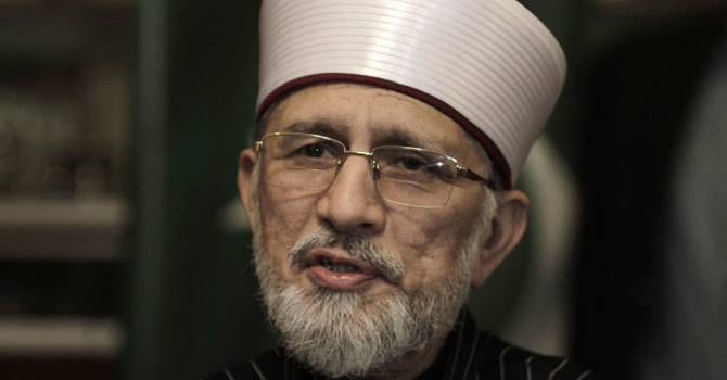 Tahirul Qadri says the party will stand by its workers. — AP/File
