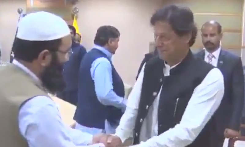 Prime Minister Imran Khan in Quetta on Sunday. — Screengrab