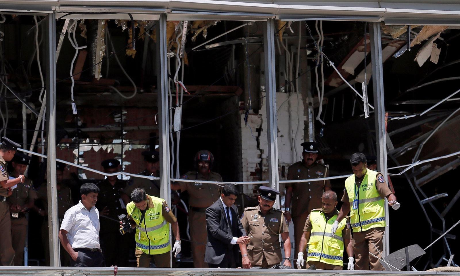 سری لنکا کے ہوٹل شانگری-لا کو بھی دہشت گردی کا نشانہ بنایا گیا— فوٹو: رائٹرز