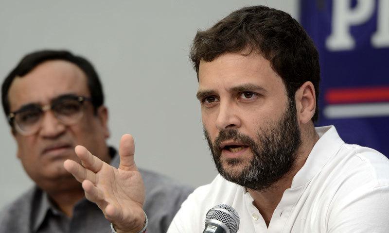 راہل گاندھی نے سپریم کورٹ میں اپنے بیان پر شرمندگی کا اظہار کیا— فائل فوٹو: اے ایف پی