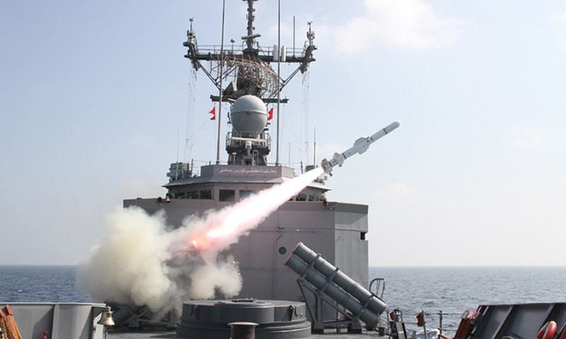 The locally made missile is capable of hitting targets from sea to sea as well as sea to surface. ─ PN/File