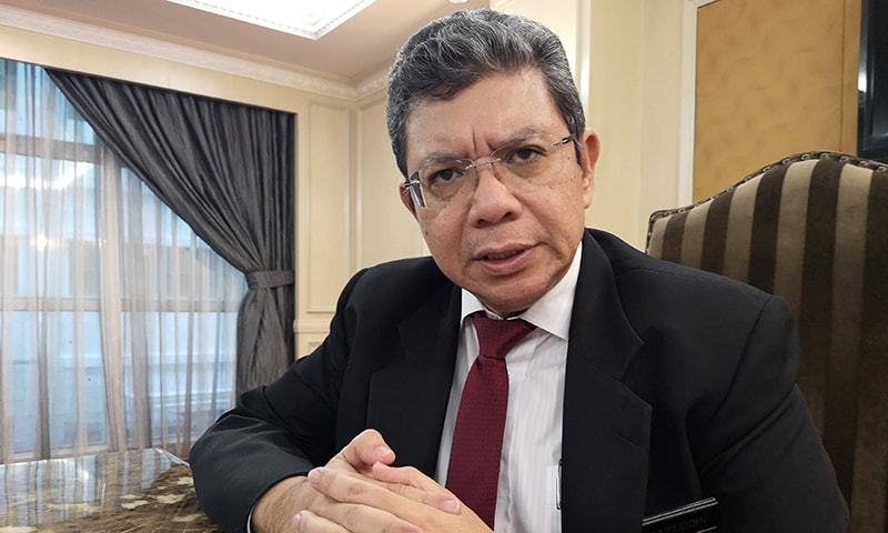 Malaysian Foreign Minister Saifuddin Abdullah speaks during an interview with Reuters in Kuala Lumpur, Malaysia on April 23, 2019. —REUTERS/Joseph Sipalan