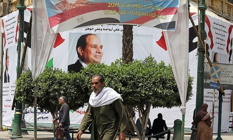 Egyptian voters have overwhelmingly backed constitutional changes that could see President Abdel Fattah al Sisi's rule extended to 2030, the electoral board said on Tuesday. — Reuters/File