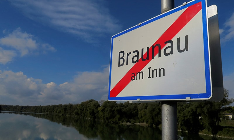 In this file photo, the sign of Braunau am Inn, the city Hitler was born, is pictured on a bridge in Austria on October 22, 2016.  — Reuters