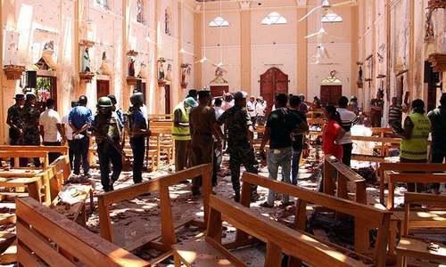حملہ آوروں نے 3 گرجا گھروں اور 4 ہوٹلوں کو نشانہ بنایا —تصویر:اے ایف پی
