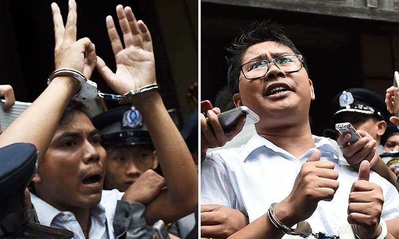 'صحافیوں کے خلاف مقدمات میں شفافیت کا فقدان ہے'—فوٹو: اے ایف پی