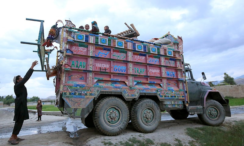 Afghan villagers who fled from the fighting sides arrive at the Behsud district of Nangarhar province, Afghanistan on April 24, 2019. — Reuters/Parwiz