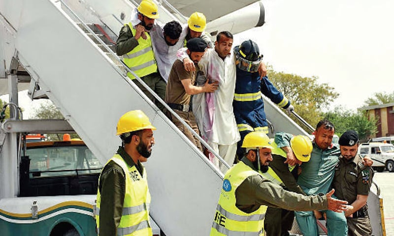 All concerned departments, including FIA, Army Aviation, fire brigade, Rescue 1122 and ambulances of all hospitals of the metropolis, participated in the drill to test the level of preparedness for emergency situation. —APP