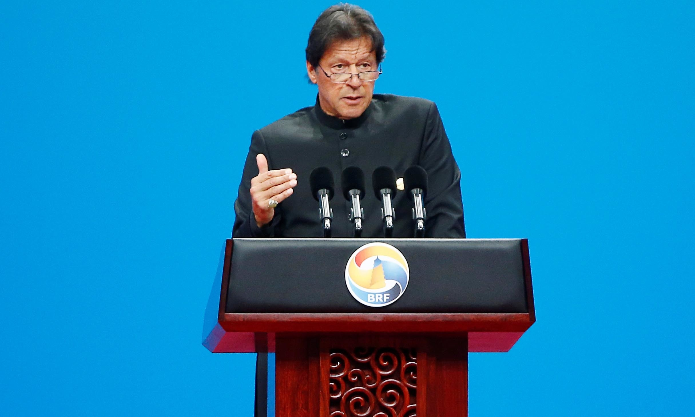 Prime Minister Imran Khan delivered a keynote speech at the opening ceremony of the second Belt and Road Forum in Beijing. ─ Reuters