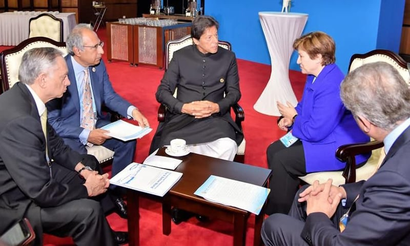 World Bank CEO Kristalina Georgieva on Friday pledged to further strengthen cooperation with Pakistan in the areas of disbursements programme lending and guarantees provision for raising external funds, in a meeting with Prime Minister Imran Khan on the sidelines of the second Belt and Road Forum (BRF) in Beijing. — Photo provided by author
